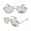High quality photochromic metal reading glasses sunglasses