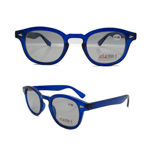 Dark blue bifocal reading glasses