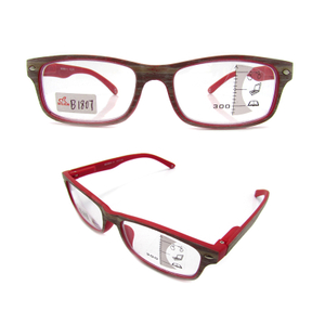 Imitation wood grain plastic reading glasses for women