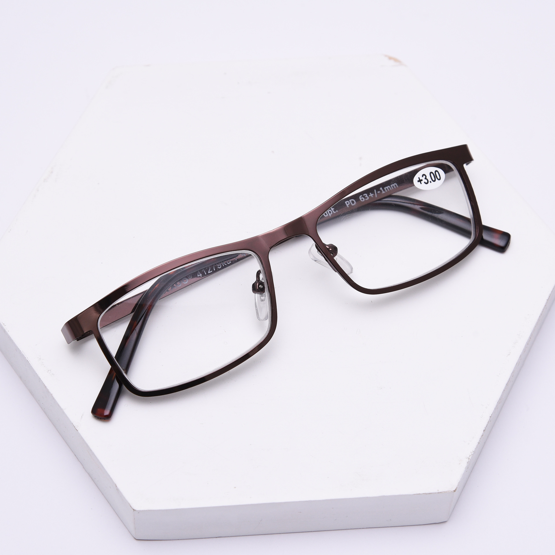 Rectangle Metal reading glasses