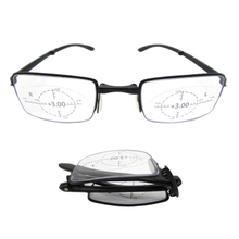2020 new arrived foldable reading glasses with 360° ring focal eyewear for men