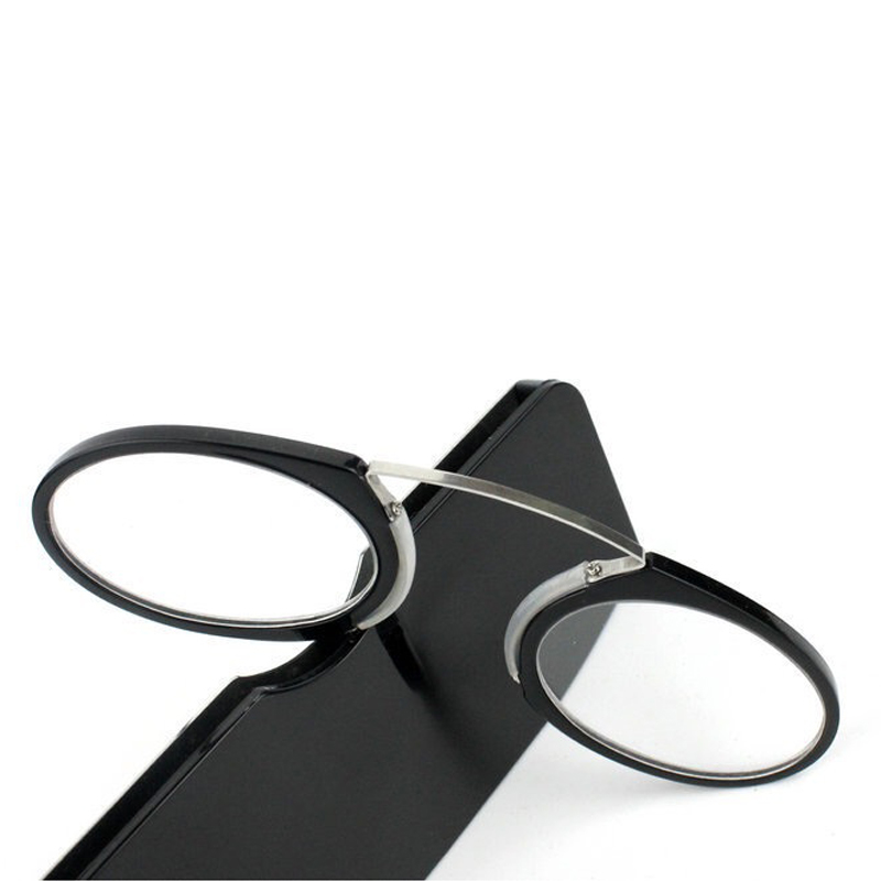 Nose clip small reading glasses with case