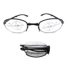 Foldable reading glasses with 360° ring focal