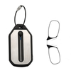 Mini Pocket Foldable Clip Nose Reading Glasses Keychain Black Frame For Readers with key chain