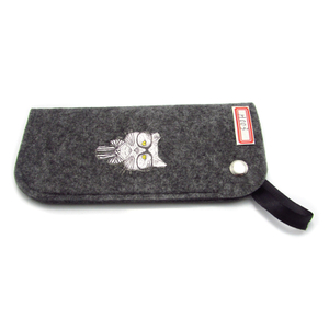 Felt cloth glasses pouch with snap fastener