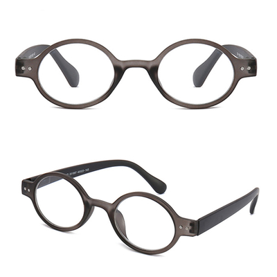 Classically round and retro reader eyewear with spring hinge