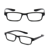 PC square reading glasses lightweight frame