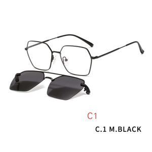2 In1 Glasses Frame Magnetic Sunglass Clip On Sunglasses Eyeglasses