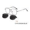 2 in1 Magnet Clip On Glasses Frame Men Prescription Optical Frame Eyeglasses Male Myopia Magnet Clip On Sunglasses