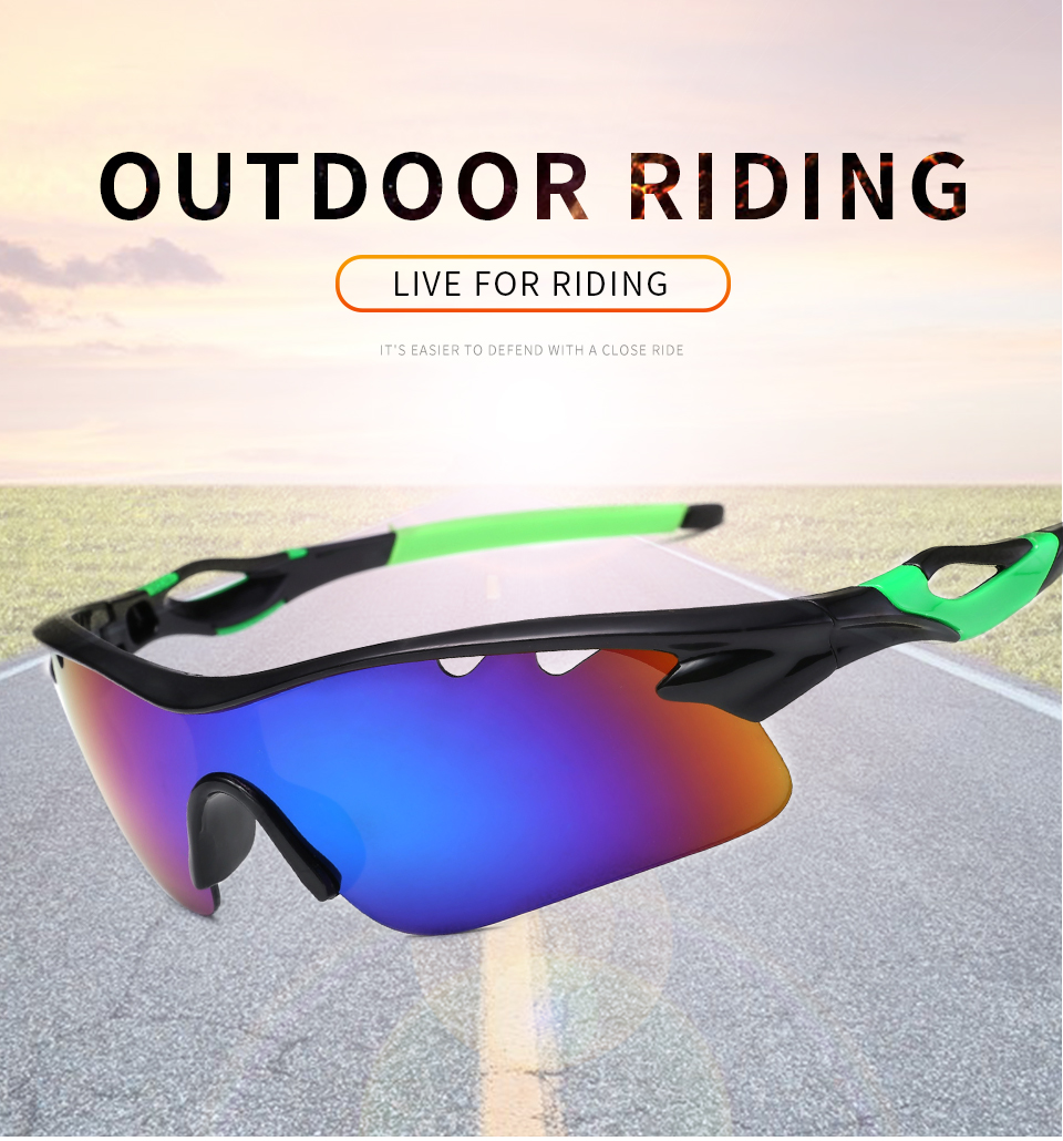 Fashion Men Women Custom Windproof Sports Eyewear Cycling Sunglasses UV400 Sports Sunglasses Glasses For Sport