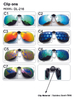 Women Men Clip on Sunglasses Designer Brand Polarized Sun Glasses Clips