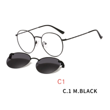 2 In1 Eye Glasses With Magnetic Clip On Sunglasses