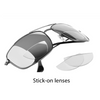 Stick on Reading Glasses Lenses Replaceable Presbyopic Silicone Lens Stick-on Reader Lenses