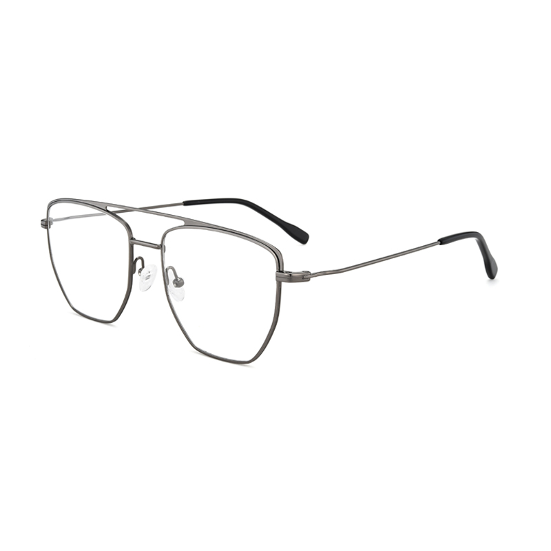 Metal Frame Square Aviator Eyeglasses Frames Style Geek Optical Glasses for Men