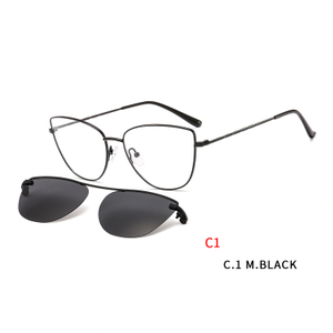 Magnetic Sunglasses Clip on for Men Women Metal Frame