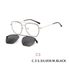 2 In1 Myopia Optical Magnet Clip Glasses Frame Men Clear Prescription Eyeglasses Frame Male UV400 Polarized Magnet Clip On Sunglasses