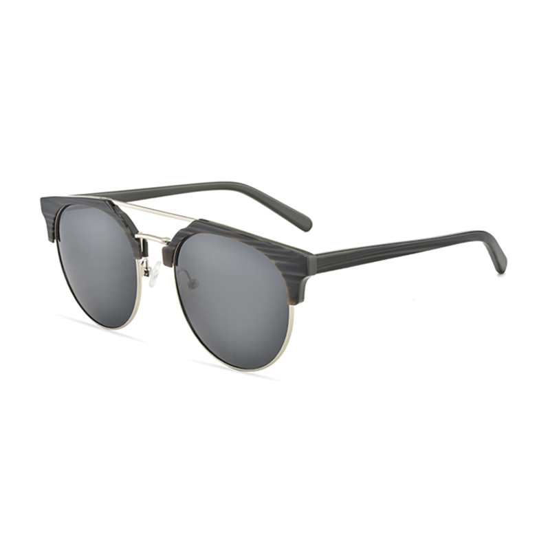 Classic Half Frame Retro Sunglasses for Men