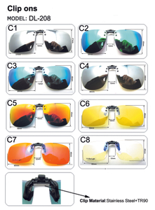 For Men Women Driver Clip On Sunglasses Car Driving Night Vision Lens Anti-UVA UVB Sun Glasses