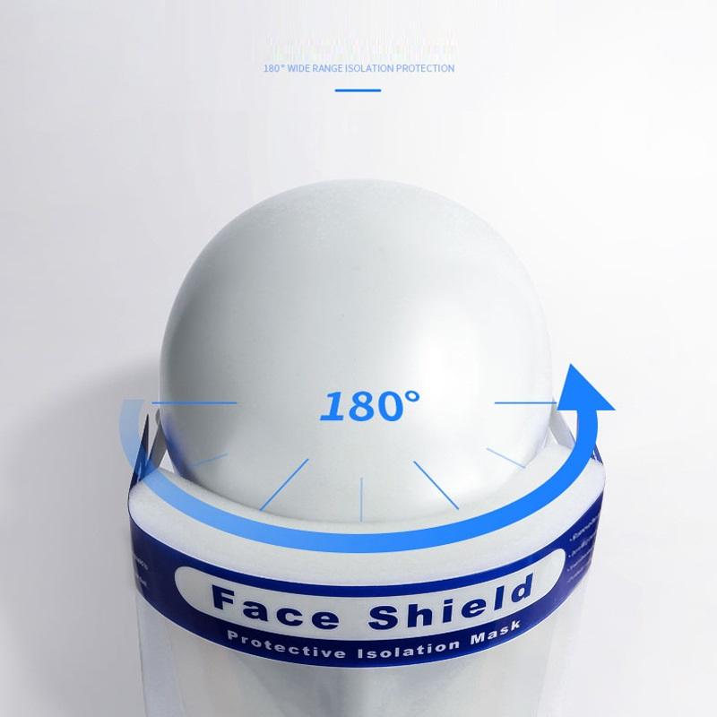 Fast Delivery Personal Safety Full Face Mask Shield Eye Head Splash Protection anti-dust Protective Visor PP Face Mask