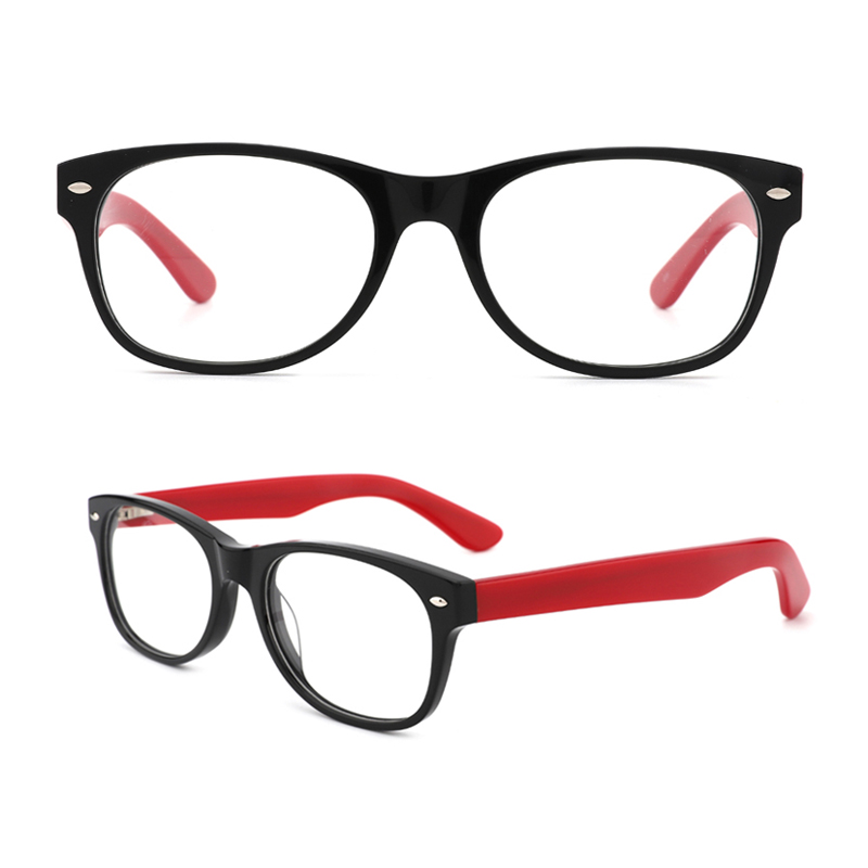 Womens Fashion Stylish Acetate Eyewear Frame With Clear Lens