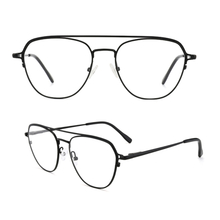 Large Frame Full Metal Classic Retro Designer Style Eyeglasses Non-prescription Oversized Eyewear Metal Frame for Women Men