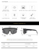 2021 New Pit and Viper Sunglasses Polarized Custom LOGO Double Wide Oversized Windproof Sport Bike Cycling Sunglasses For Men