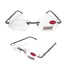 Rimless metal slim reading glasses for men