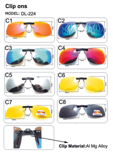 Polarized Clip on Sunglasses for Prescription Myopia Eyeglasses Outdoor Driving Sun Glasses