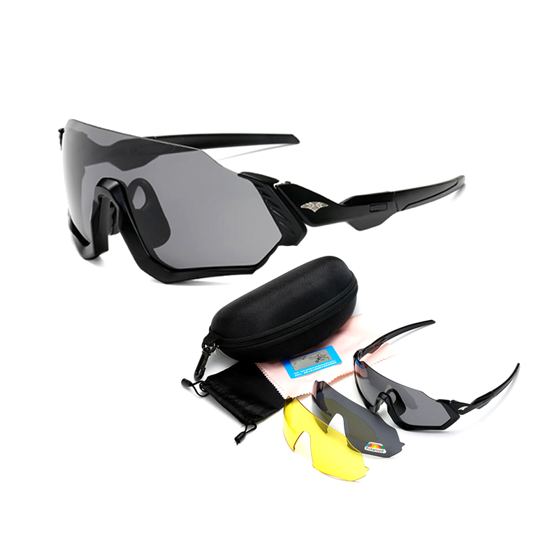 9317N polarized night vision cheap men women cycling sports suit 3 lens sunglasses wholesale Outdoor mountaineering ski glasses