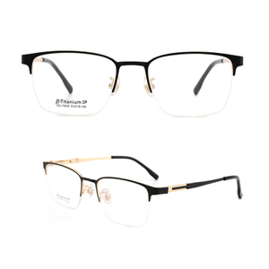 Men Titanium Glasses Frame Ultralight Square Eye Myopia Prescription Eyeglasses Male Half rimless Optical Frame