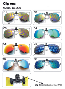 Polarized Clip on Flip Up Sunglasses UV Protection Anti Glare Driving Fishing Sunglass Fits Myopia Glasses Prescription Glasses