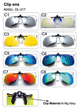 Detachable Night Lens Driving Metal Polarized Clip On Sunglasse Anti Blue Light Glasses Clips Blue Light Blocking