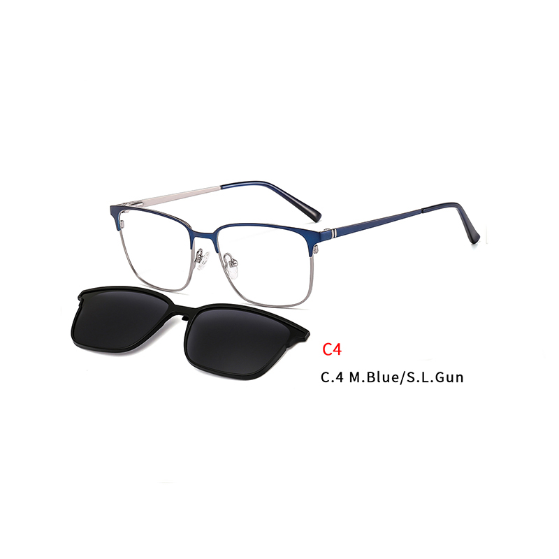 2 In 1 2020 Magnet Sunglasses Removable Lens Rectangle Clip on Myopia Sun Glasses Driving