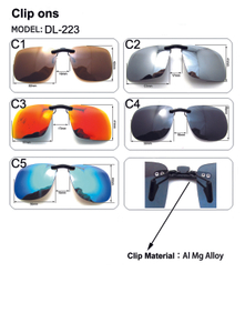 New Unisex Polarized Clip On Sunglasses Near-Sighted Driving Night Vis Lens Anti-UVA Anti-UVB Cycling Riding Sunglasses Clip