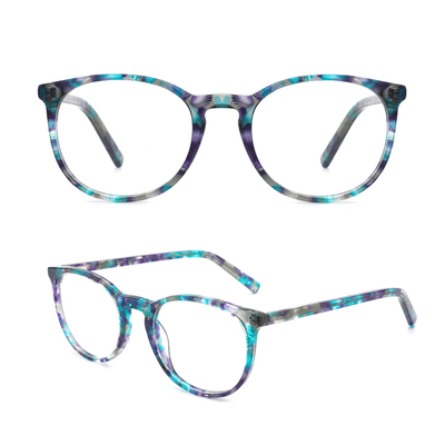 Oversize Optical Eyeglasses Non-prescription acetate Frame with Clear Lenses for Women